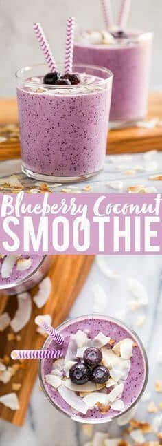 Toasted Coconut Blueberry Banana Smoothie