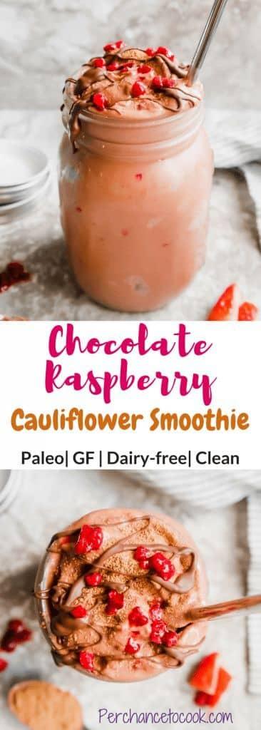 Raspberry Chocolate Cauliflower Smoothie