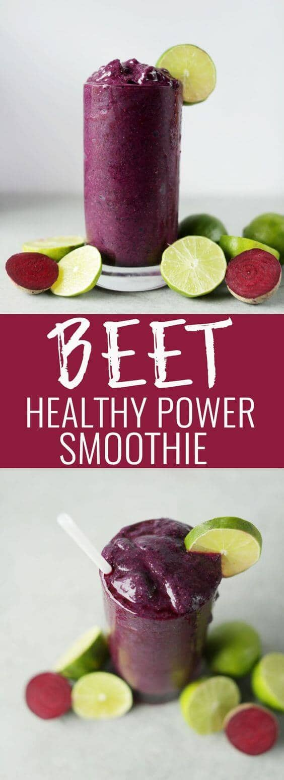 Beet Blueberry Chia Seed Smoothie
