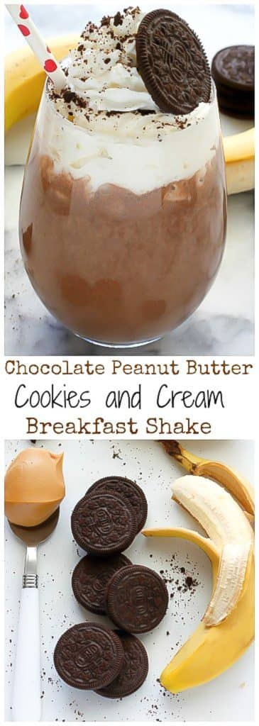 Chocolate Peanut Butter Cookies and Cream Smoothie