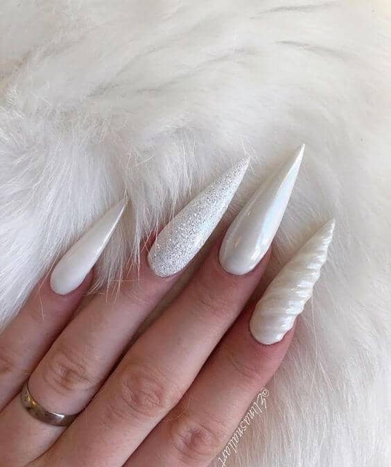White Designer Nails For Your Inner Unicorn