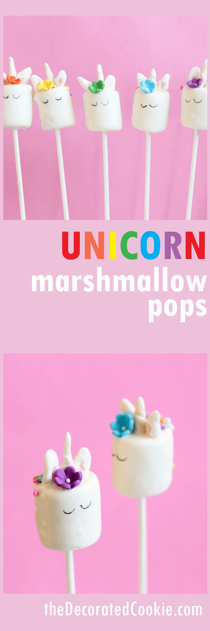 Rainbow Unicorn Marshmallow Lollies