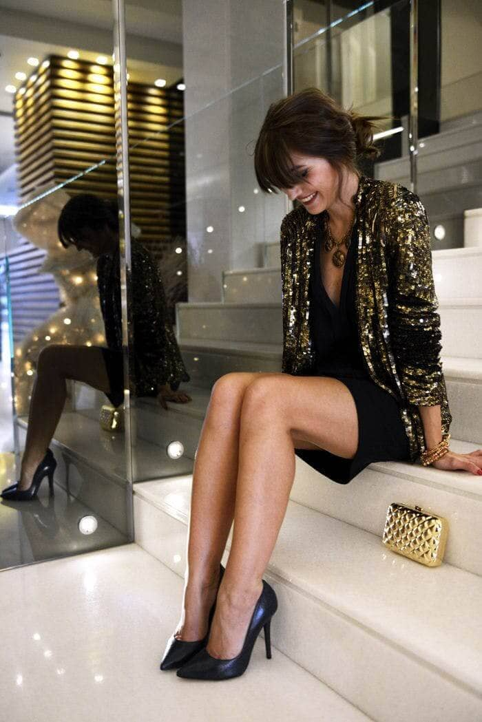 LBD and Little Gold Jacket