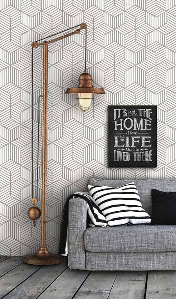 Steampunk Chic Geometric Pattern