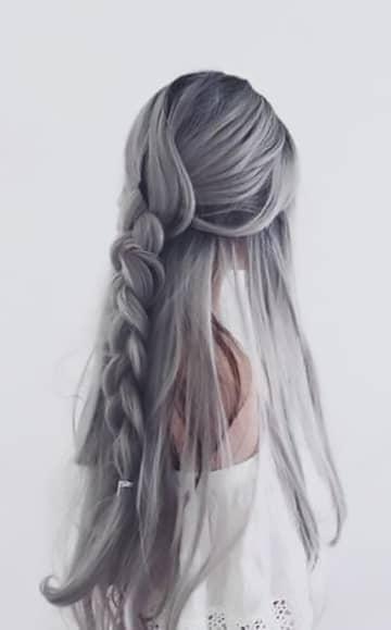 Silver Color With A Subtle Lavender Hue