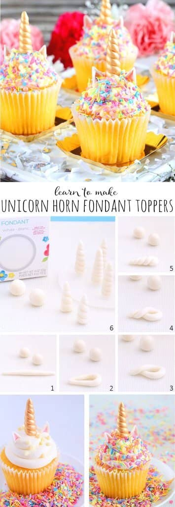 Unicorn Birthday Party Sweets Fondant Horns