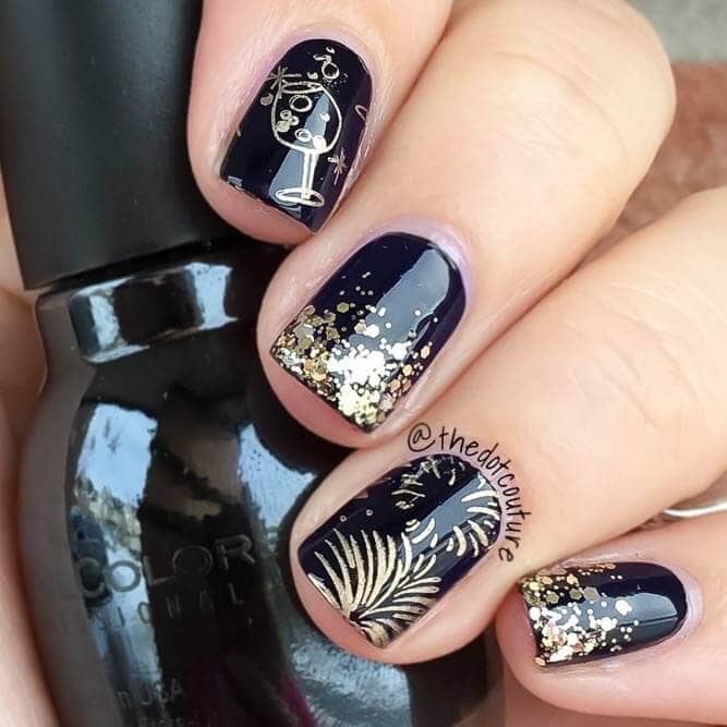 Holiday Nail Designs for New Year