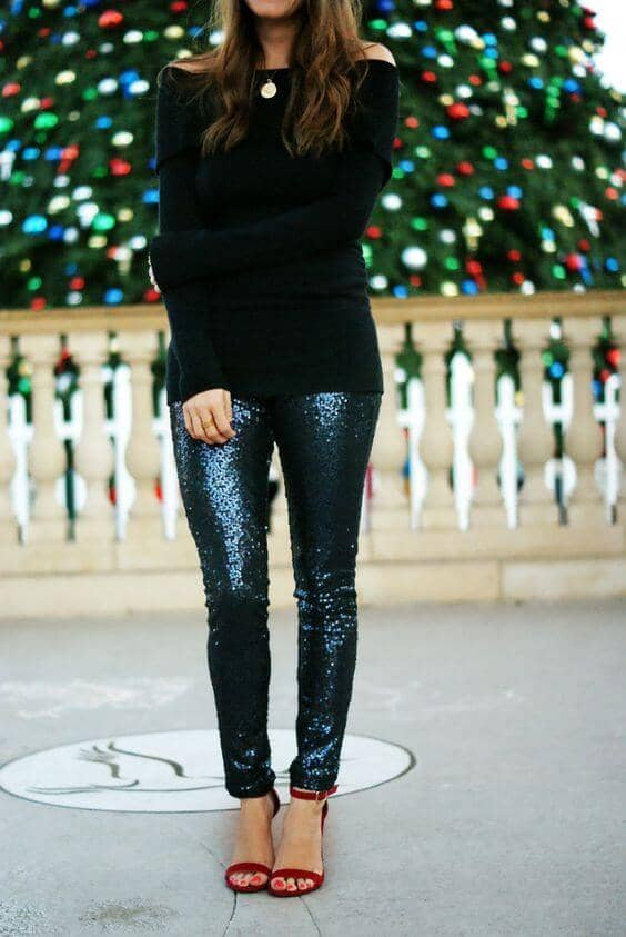 New Years Eve Outfits with Leggings