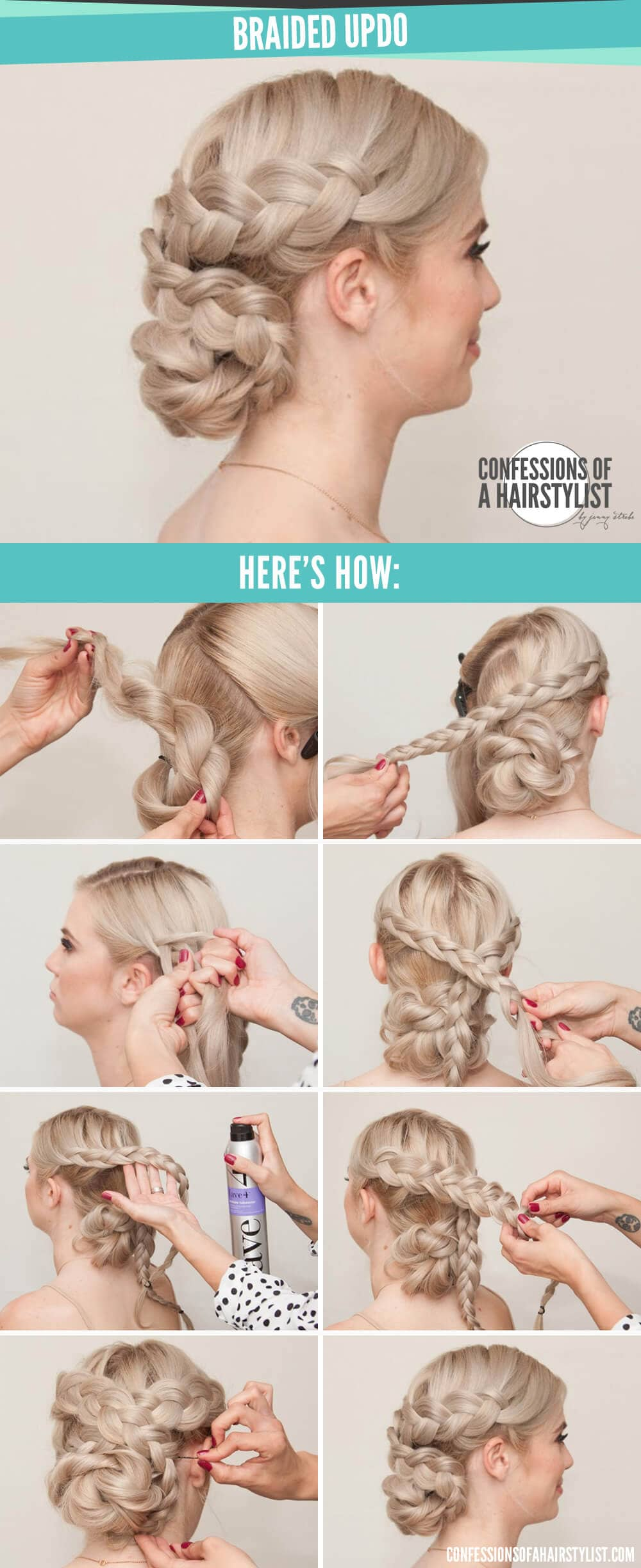 6 Criss Crossed Milkmaid Braid And Low Bun
