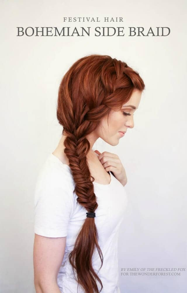 Feathery Fishtail Side Braid