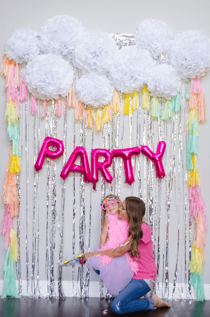 Rainbows, Streamers & Balloons Backdrop