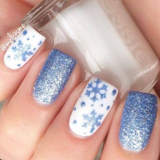 Super Shiny Ice Crystal Nail Art