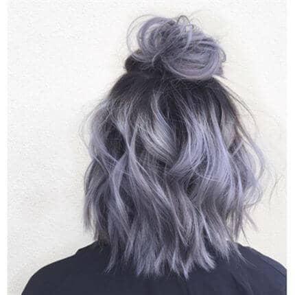 Purple And Silver Ombre Lob
