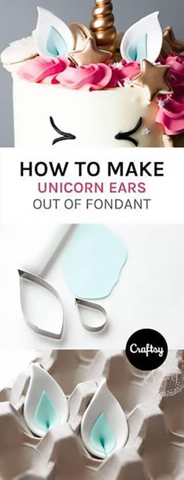 Unicorn Birthday Party Sweets Fondant Ears