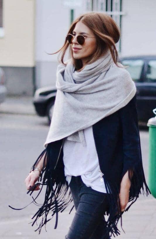 27 раз, когда зимние наряды с шарфом не выглядят простыми