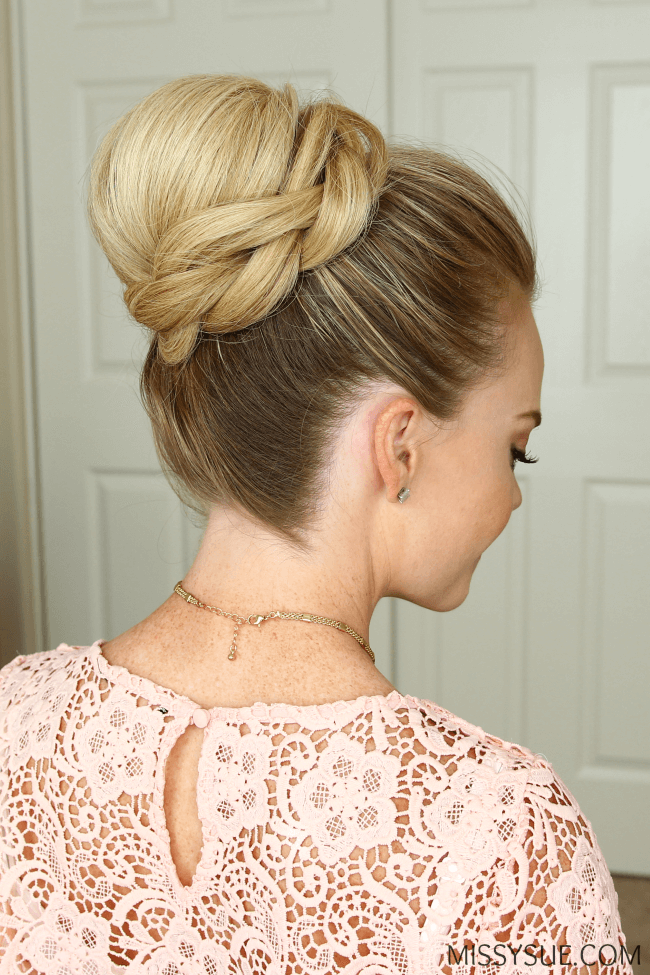 High Chignon With Braided Wrap