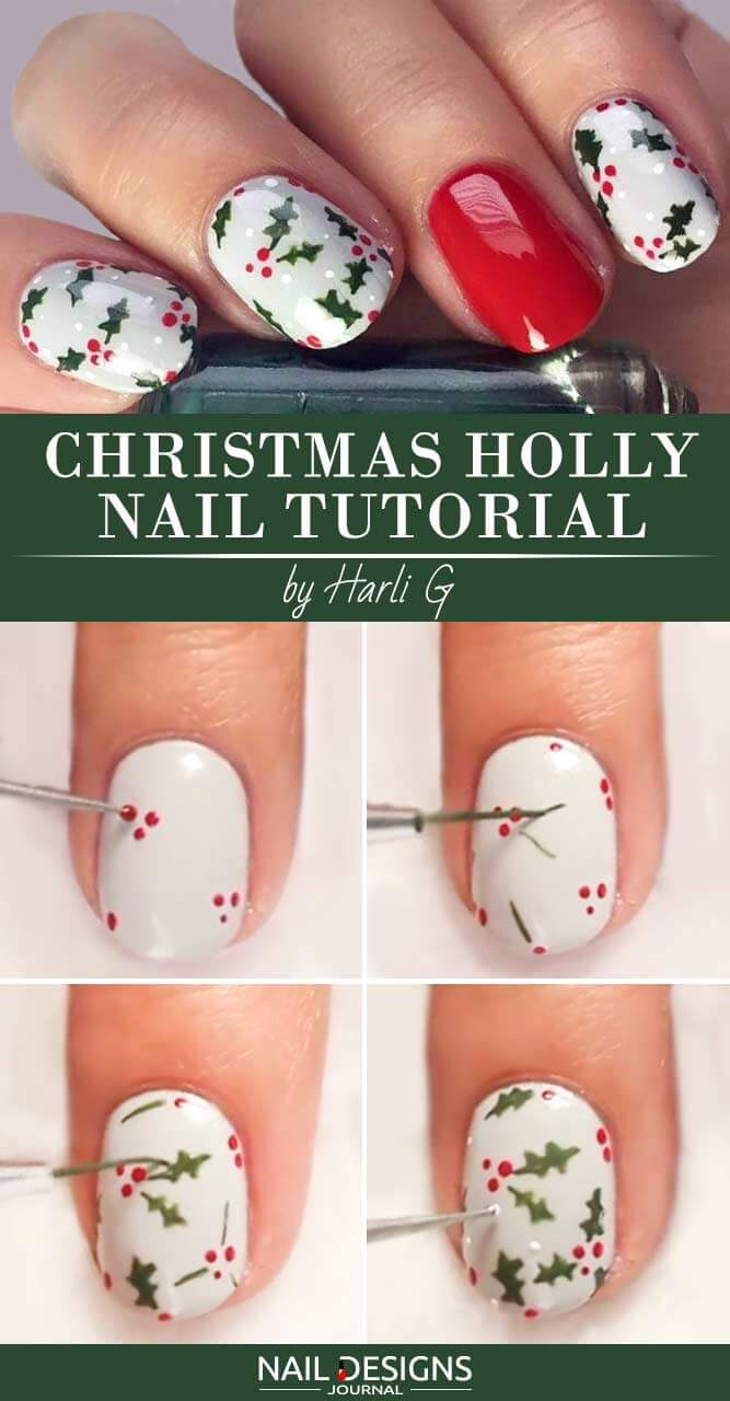 Holly & Berries Tweezer Tutorial
