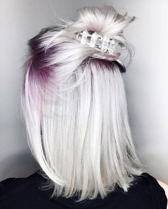 Purple Roots And Platinum Silver