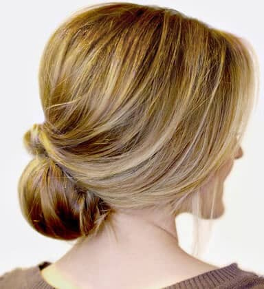 Voluminous Crown With Side-swept Low Chignon