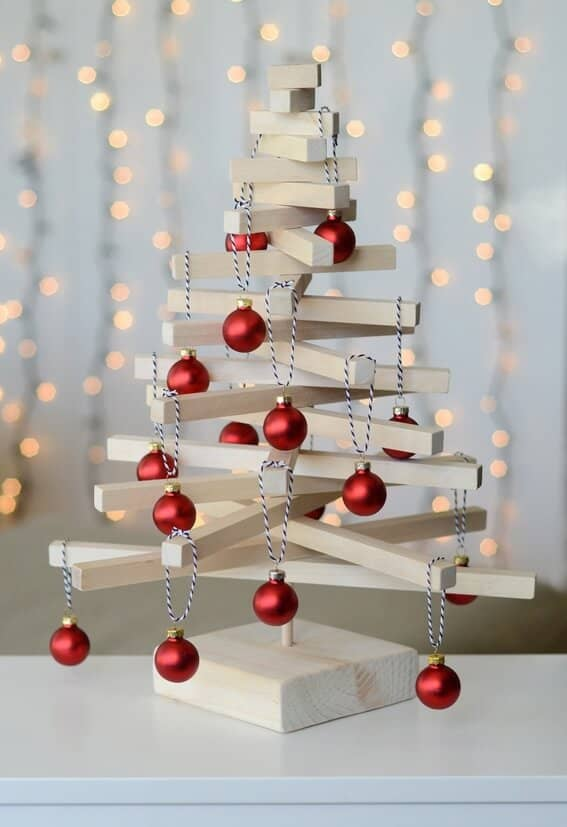 A Jenga-Inspired Christmas Tree