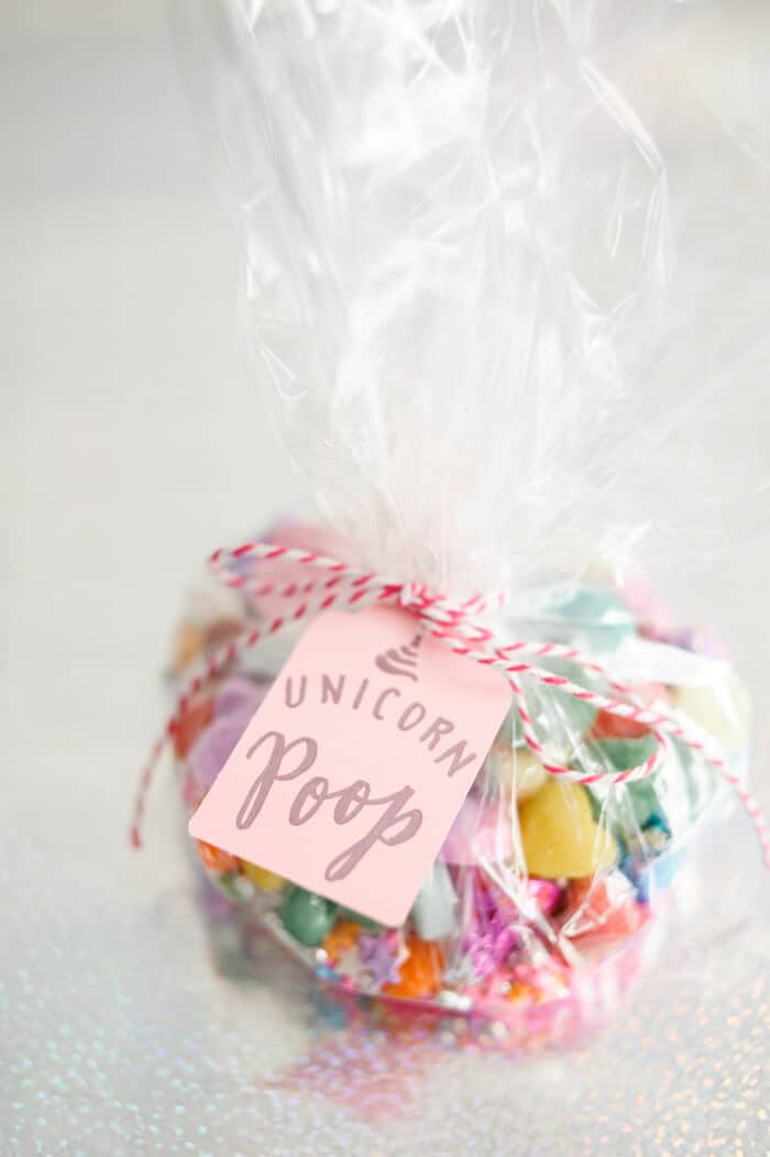 Jellybean Unicorn Poop Party Favors