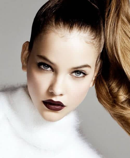 Clean Look with Brown Lipstick