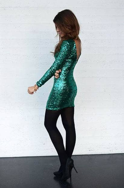 Green New Years Eve Outfit