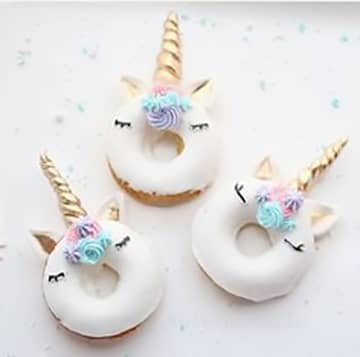 Rainbow Unicorn Sugar Donuts