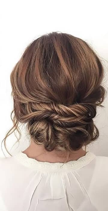 Low Bun With Twists