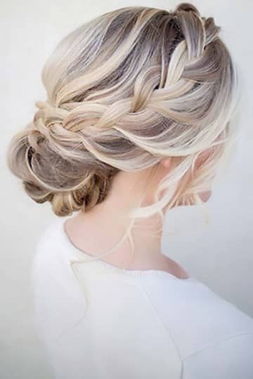 Loose Side Braids, Bun With Soft Curls