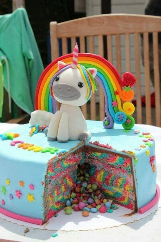 Candy-Filled Rainbow Treasure Cake