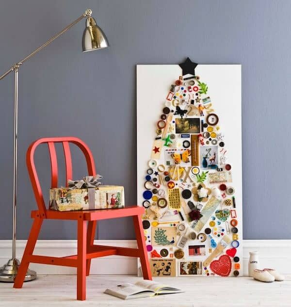 A Christmas Tree Collage