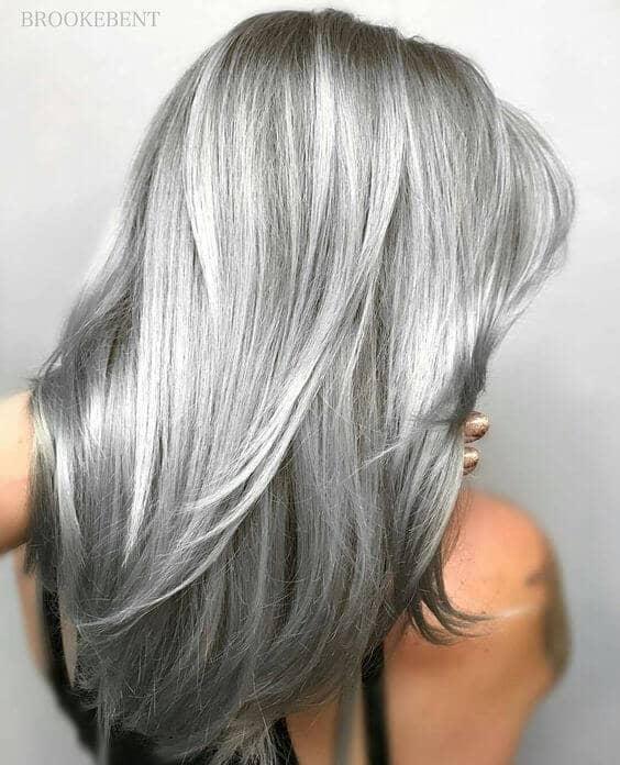 Shimmering Allover Silver Color