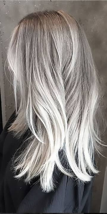 Something similar silver and platinum blonde hair color can not