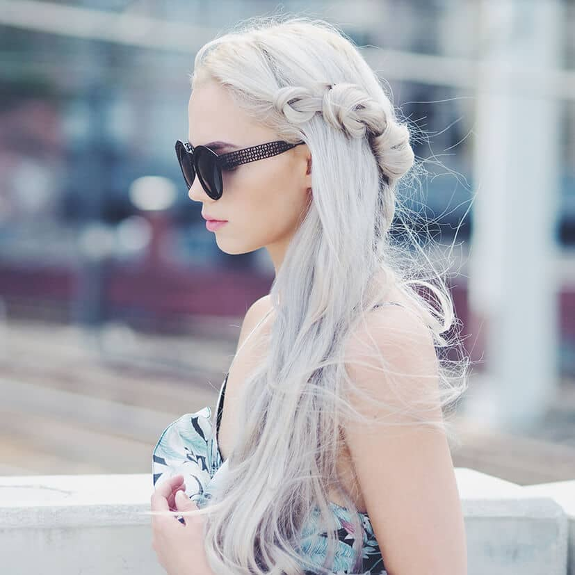 Side Knot Loose Fairy Braids