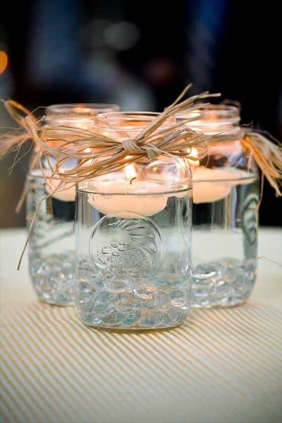 Floating Tealight Mason Jars