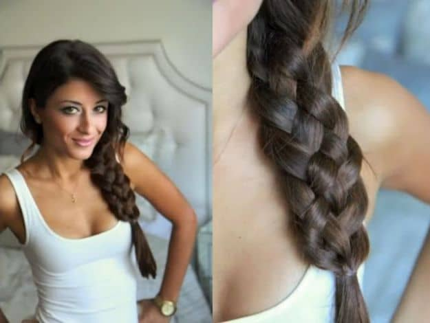 One-Sided Chic Fishtail Braid