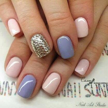 Rhinestone Accent Nail Design