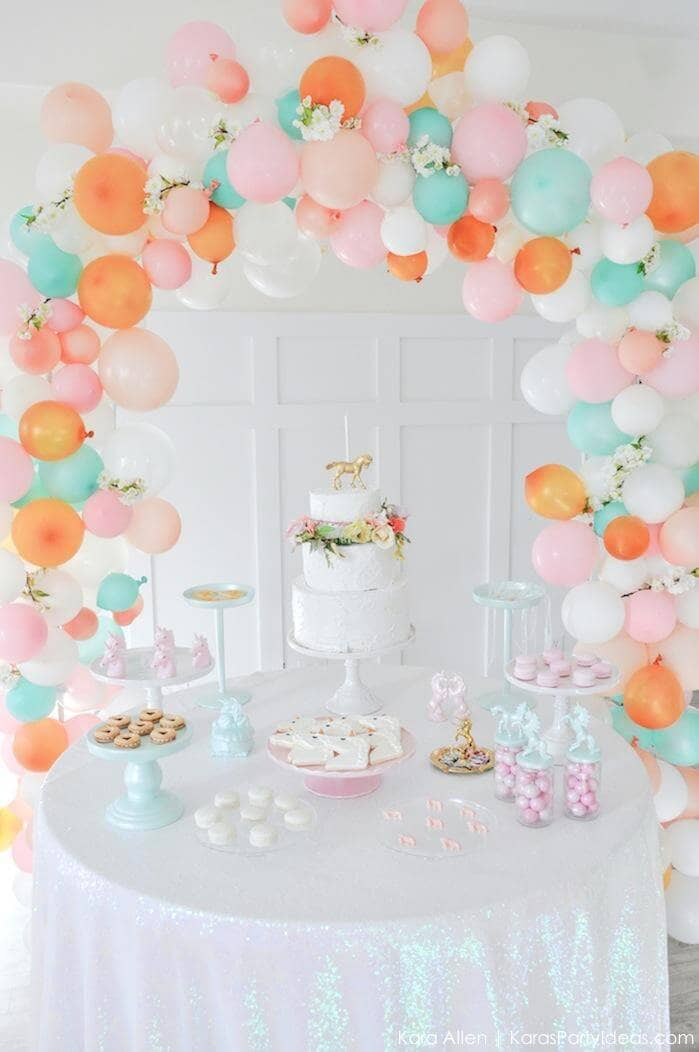 A Princess Inspired Pastel Arch