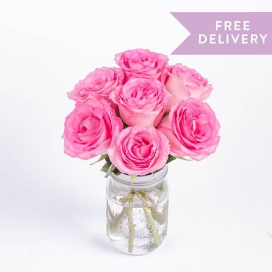 Simple and Sweet Pink Rose Bouquet