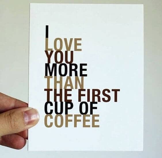 Love Before The Very First Cup