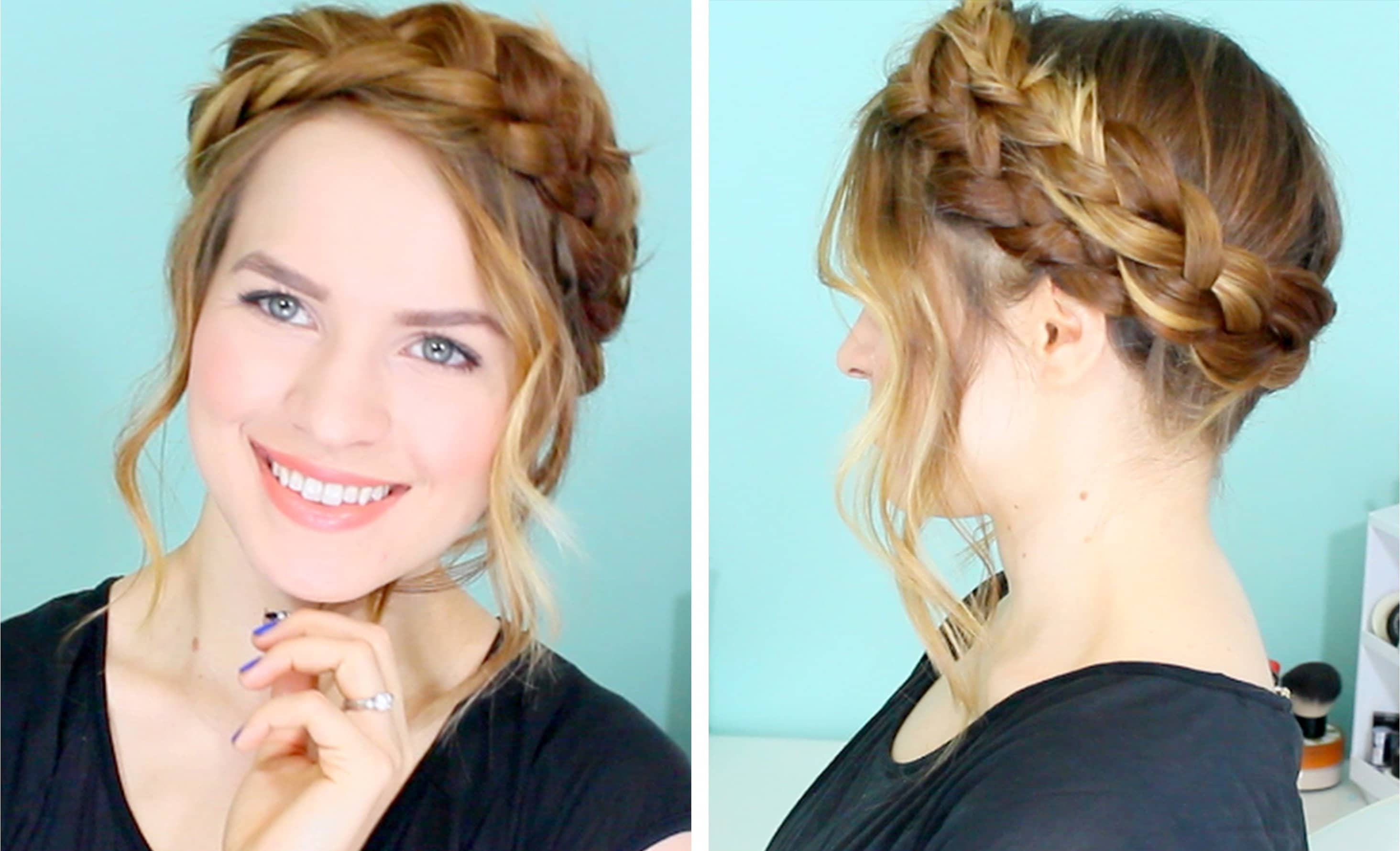 Braided And Elegant Tied Up Crown