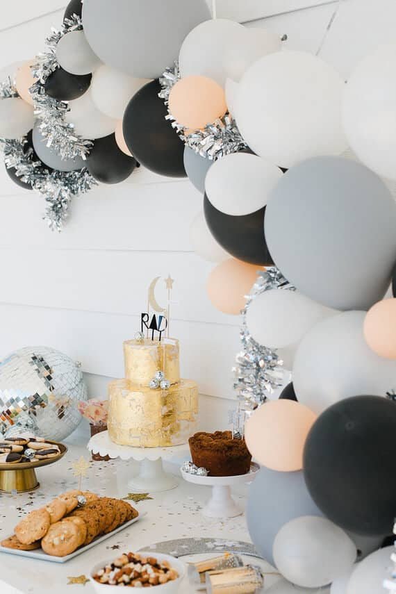 Disco Party Decoration with Balloons