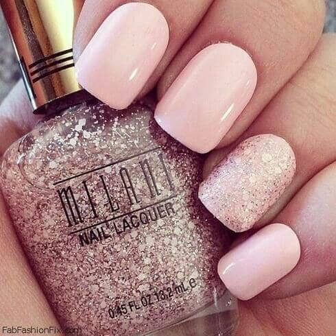 Pink with Sparkle Accent