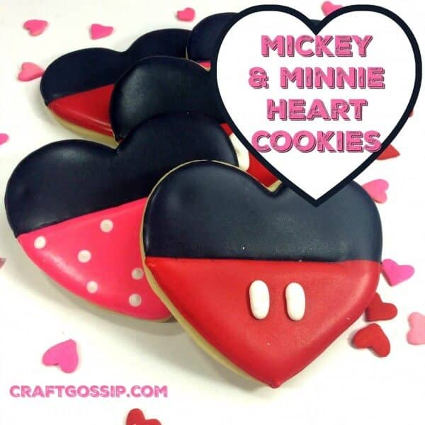 Cute Mickey and Minnie Sugar Cookies
