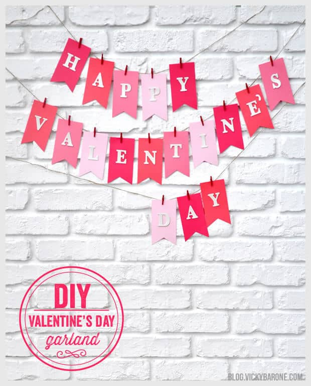Hand-Crafted Valentine's Day Colored Paper Garland