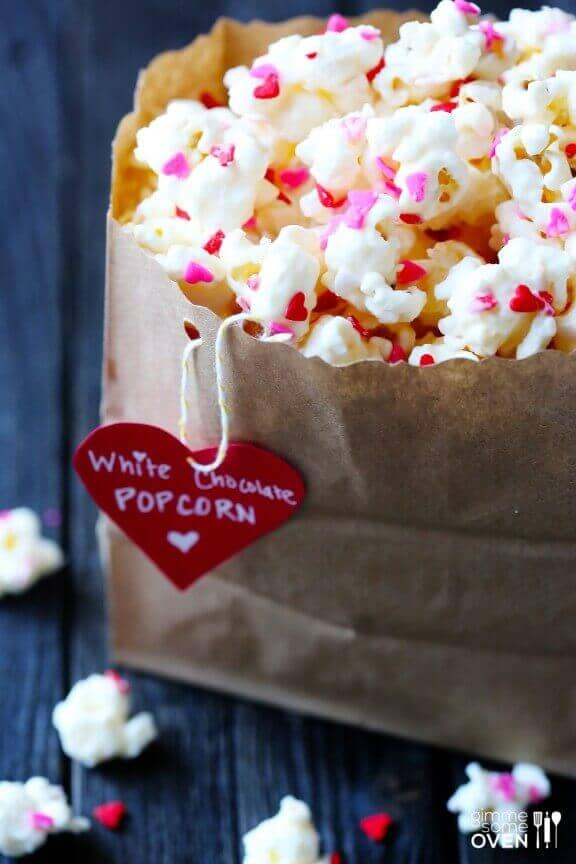 White Chocolate Coated Party Popcorn