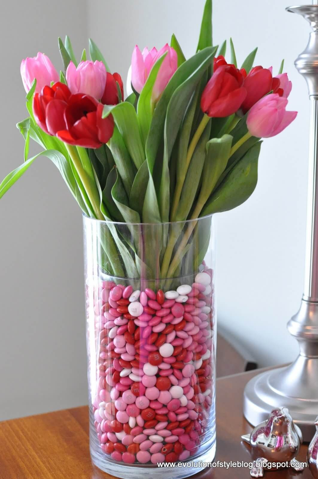Tulips + M&Ms = The Perfect Arrangement