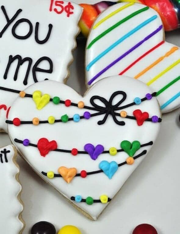 Valentine Cookie Gifts with Royal Icing