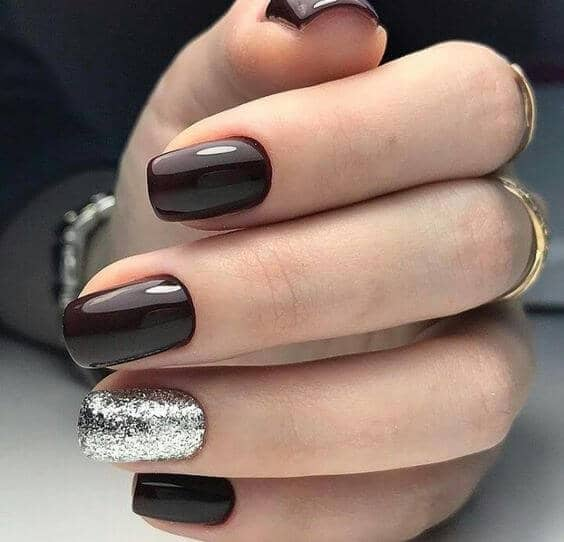 Black and Silver Manicure